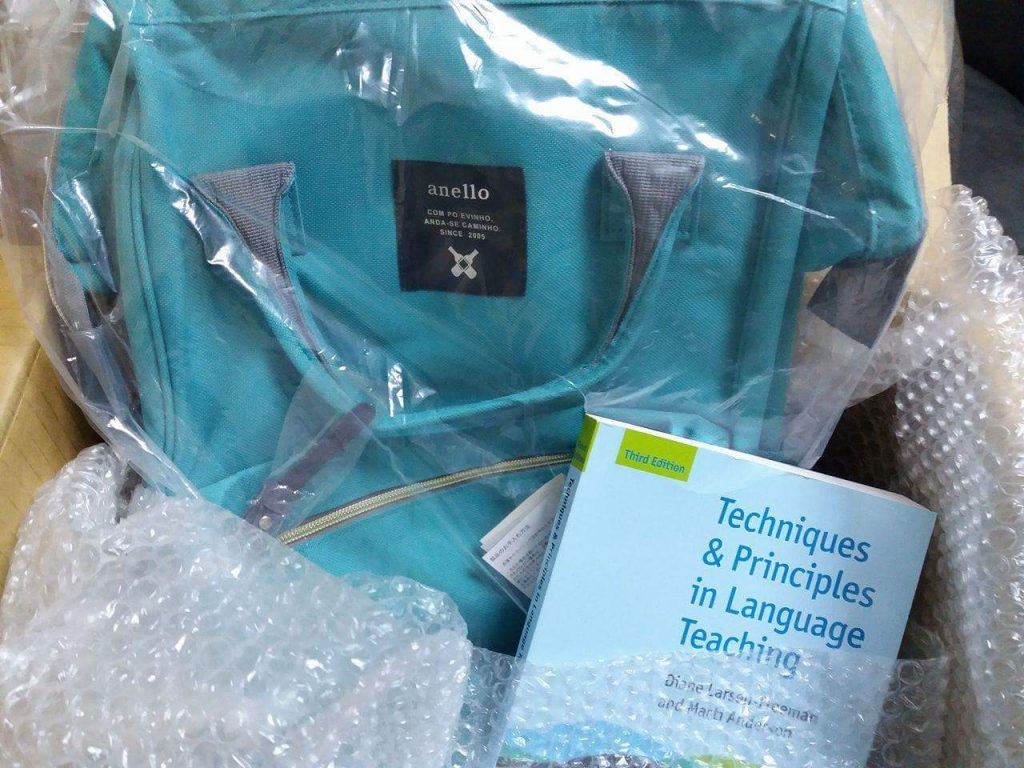 TEFL gear arrives | © myTEFL